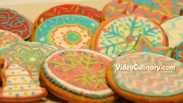 Sugar Cookies Decorated with Royal Icing