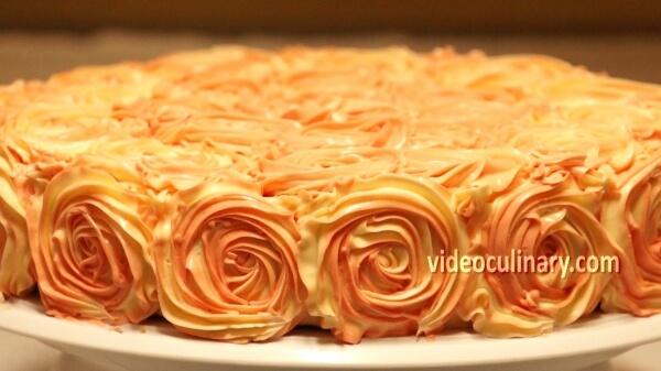 Rose Swirl Cake Decoration