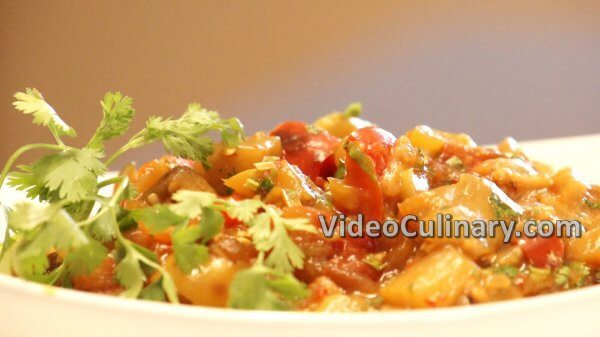 Eggplant Salad - with Tomatoes & Peppers