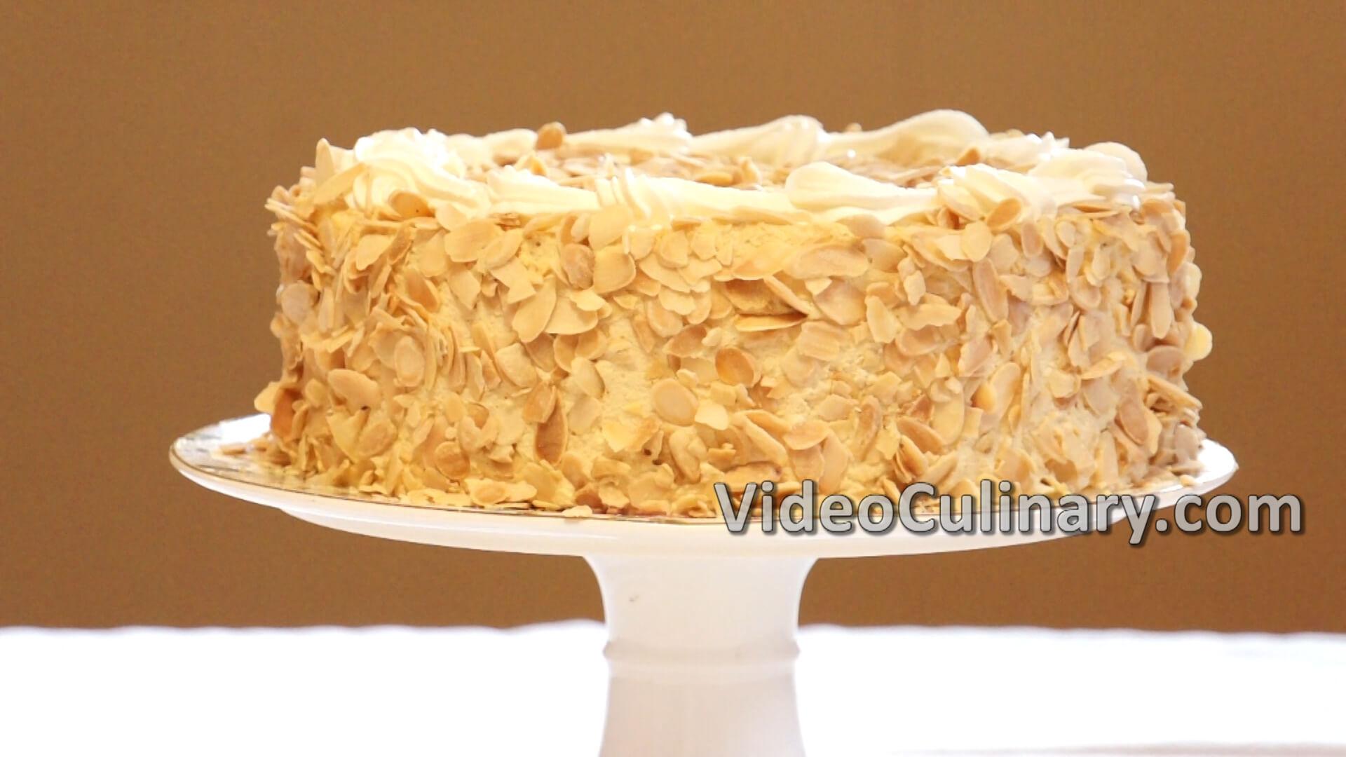 White Chocolate Hazelnut Mousse Cake